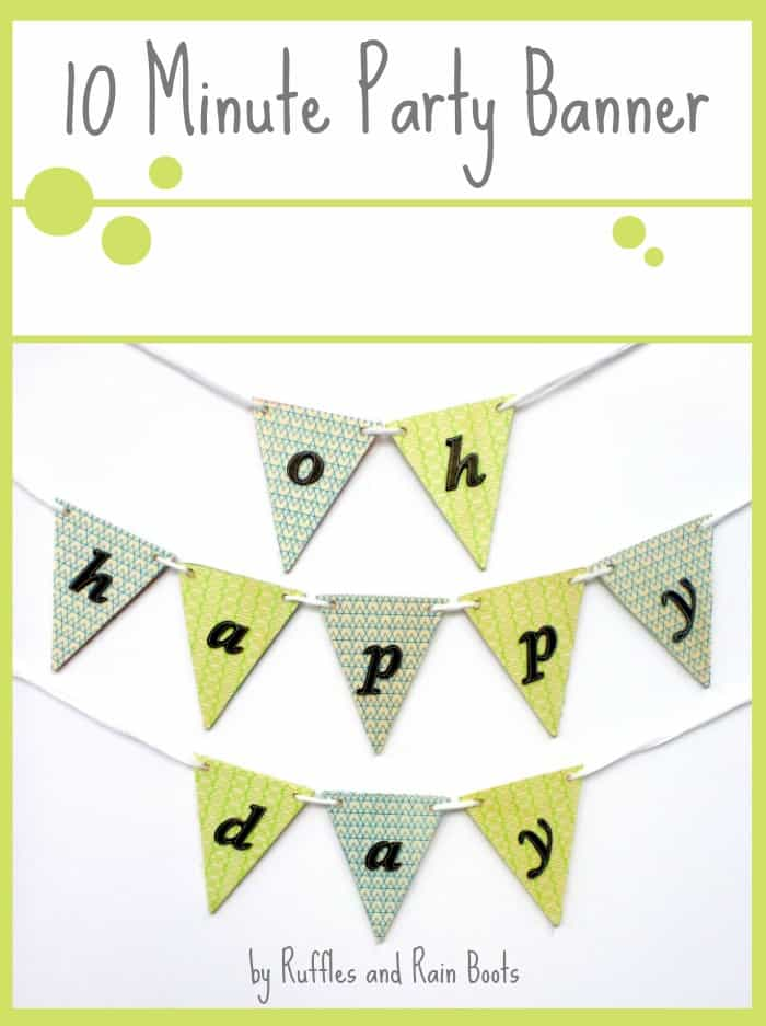 Easy-DIY-Party-Banner-Garland1 Quick Banners and Garlands