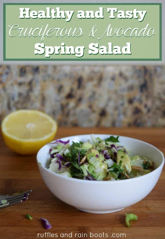 Cruciferous-Avocado-Salad Cruciferous and Avocado Salad