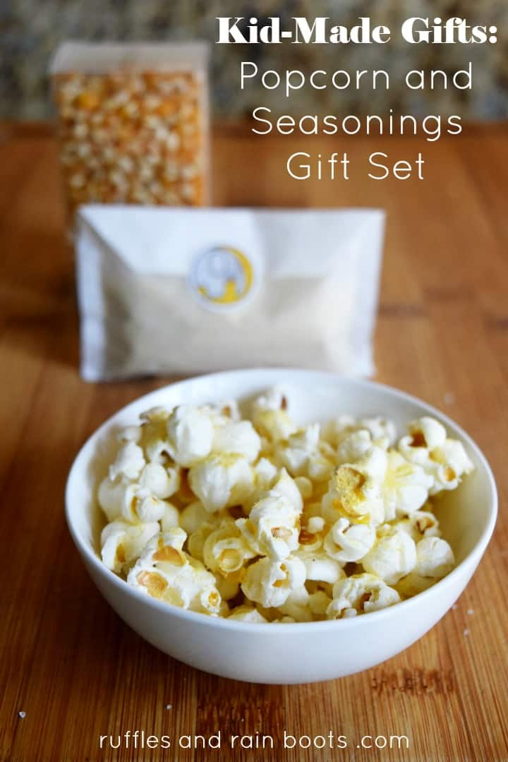 Kid Made Gifts Popcorn and Seasonings Recipe