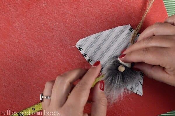 easy tutorial for a gnome ornament step 10 add gnome nose