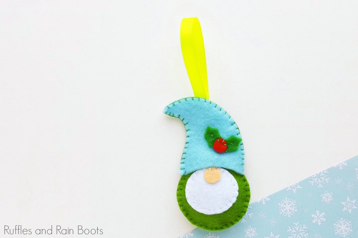 Adorable Gnome Felt Ornament Tutorial for All Ages