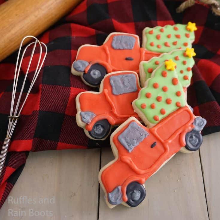 Farmhouse Truck Christmas Cookies