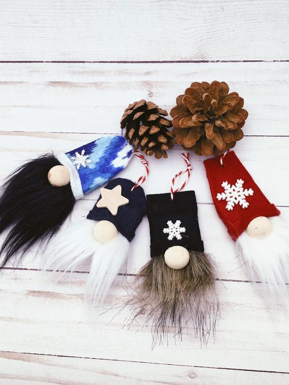 Rustic Gnome Ornaments
