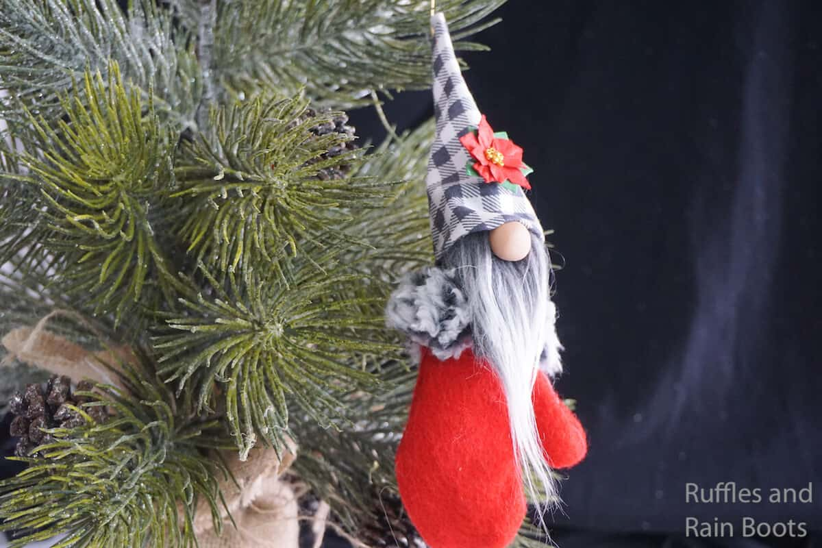 Adorable Mitten Gnome Ornament