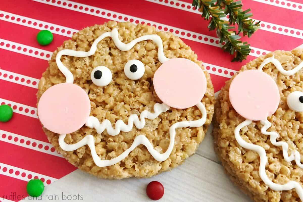 Kid Friendly Christmas Gingerbread Rice Krispies Treats