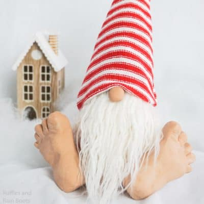 How to Make a Christmas Gnome with Feet (Really Big Feet!)