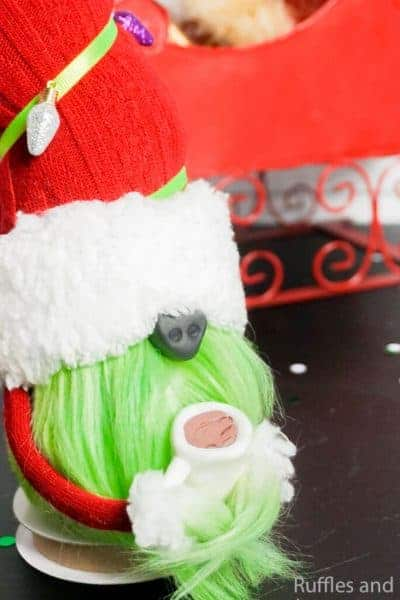 how to make a christmas gnome like the grinch