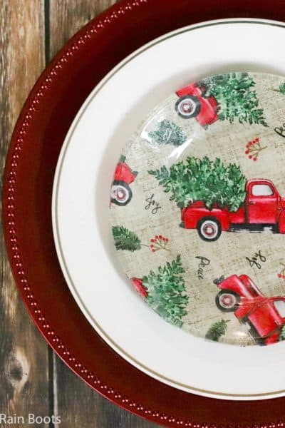 how to make a christmas plate