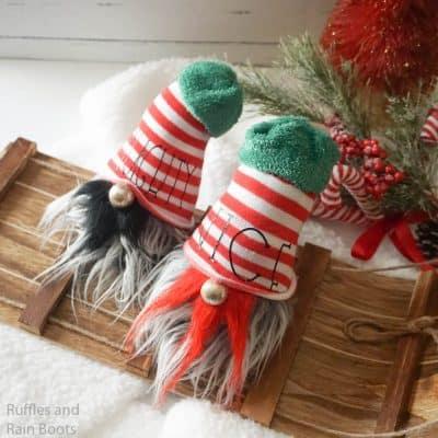 Naughty and Nice Gnomes – How to Make a Christmas Gnome
