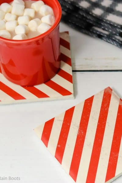 how to make christmas coasters easy christmas craft