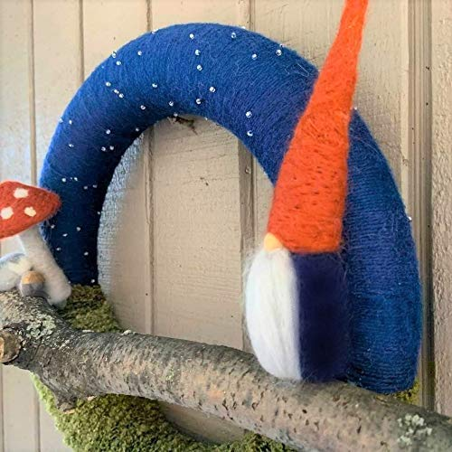 Starry Night Gnome Wreath