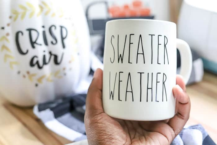DIY Rae Dunn Inspired Decal Coffee Mugs