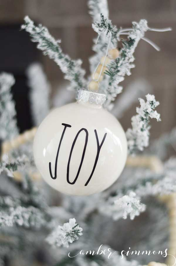 Rae Dunn Inspired Christmas Ornament DIY