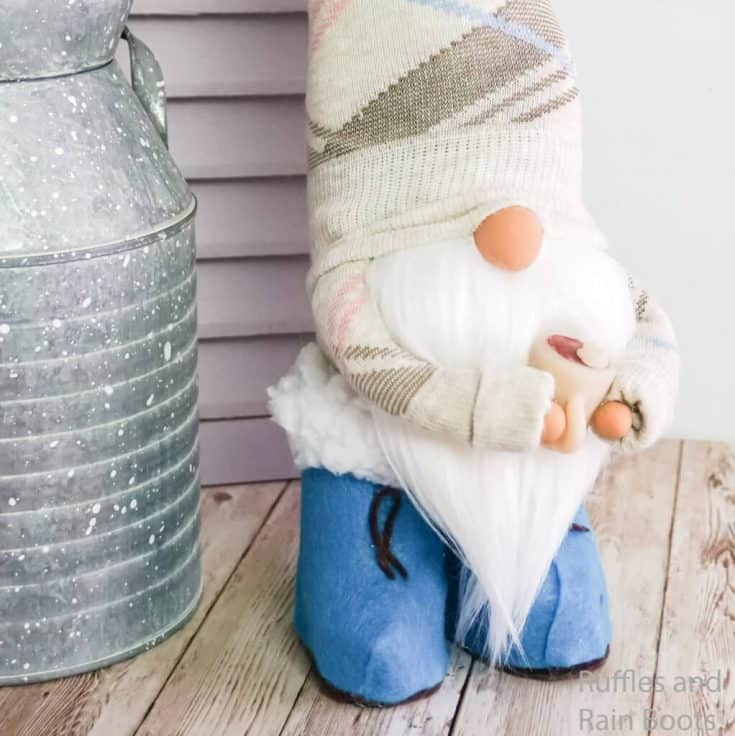 Spring Sock Gnome with Boots