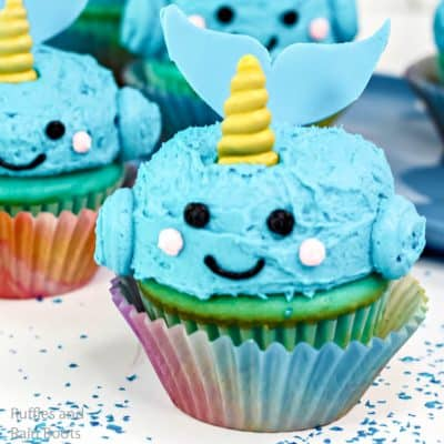 Make these Adorable Narwhal Cupcakes In Minutes!