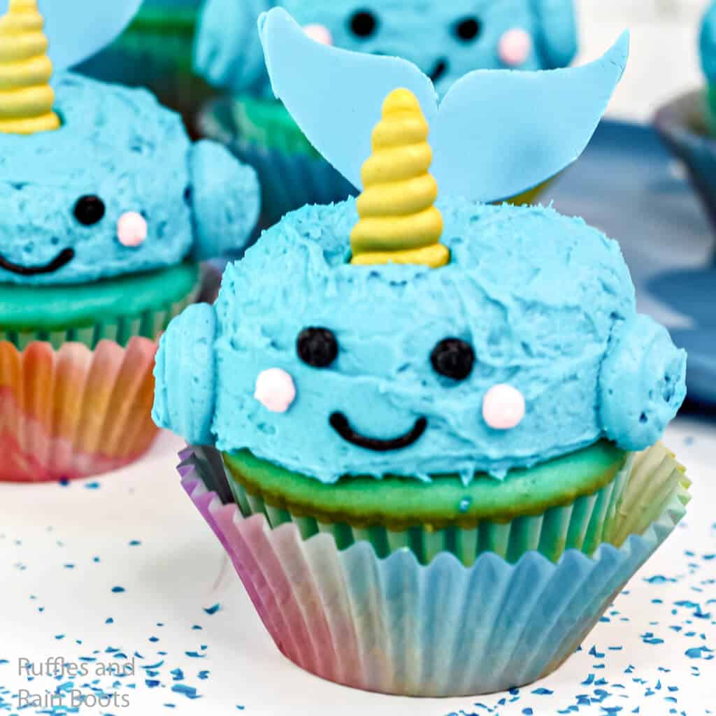 how to make narwhal cupcakes for an undersea party