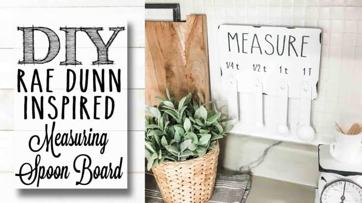 DIY Dollar Tree Rae Dunn Measuring Spoon Display