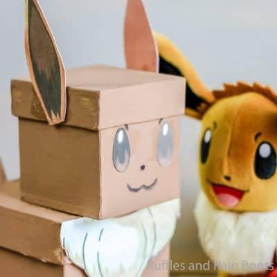 Make This Pokemon Eevee Valentine Box Craft with Your Kid!