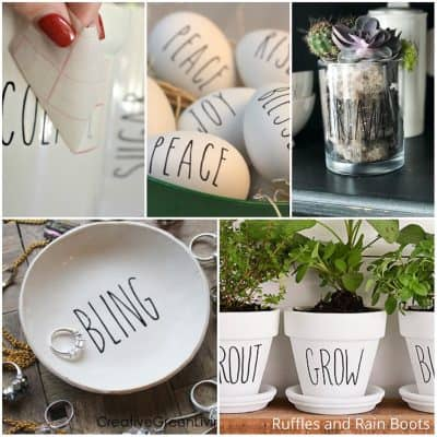 These Rae Dunn Farmhouse Crafts are the Easiest DIY Ideas and So Fun!