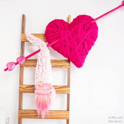 This DIY Valentine Gnome Wreath is Epic and Fun!