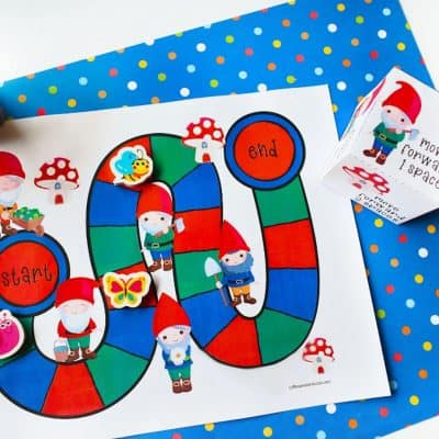 This Printable Gnome Board Game is the Perfect Boredom Buster!
