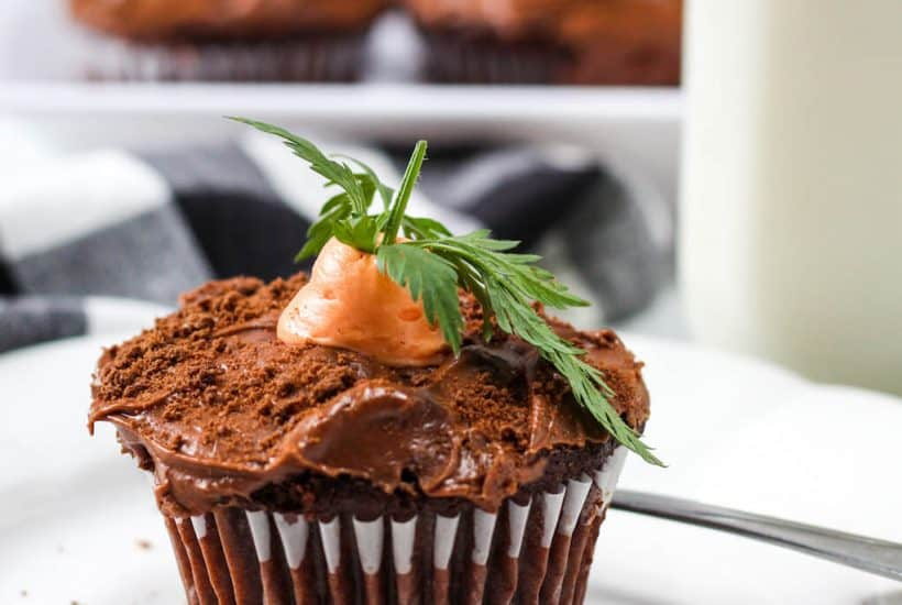 easy carrot easter cupcakes