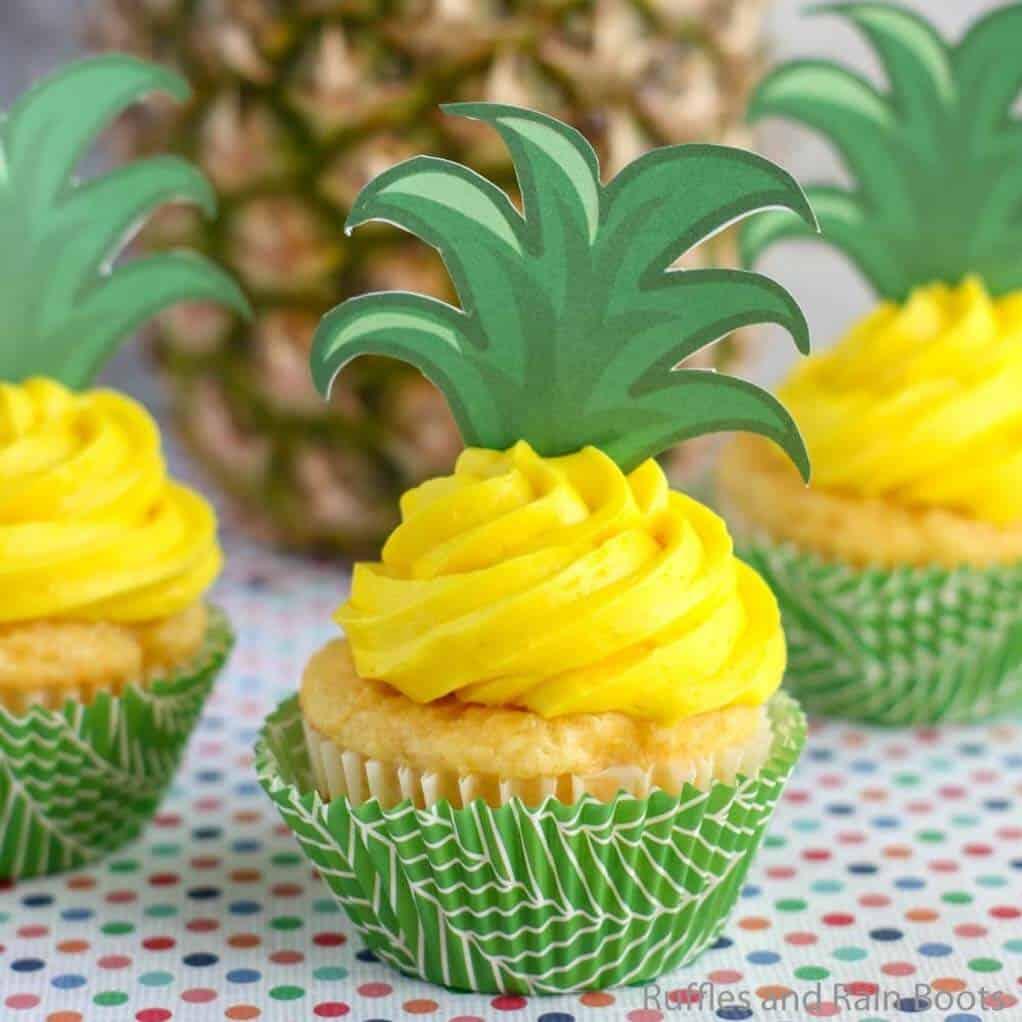 easy way to make pineapple flavored cupcake recipe
