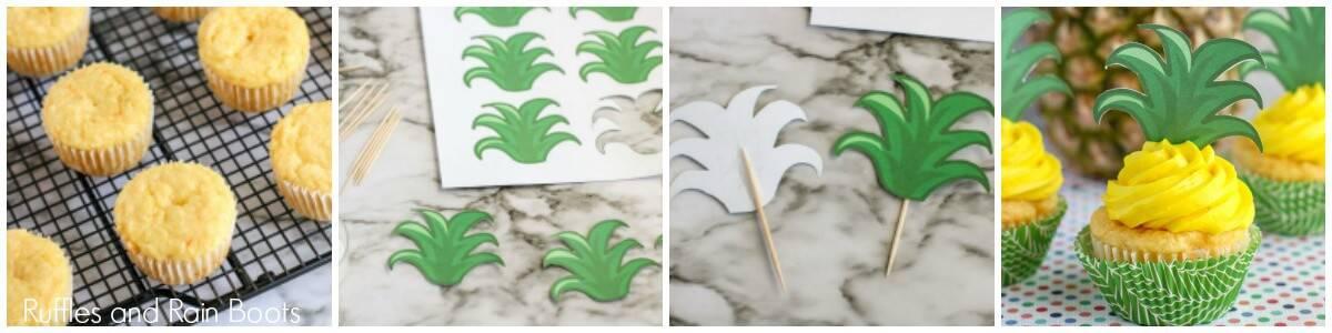 how to make make pineapple cupcakes luau summer party