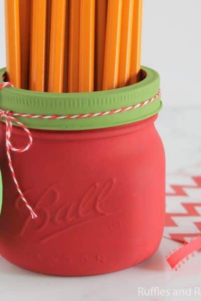 painted mason jar apple craft