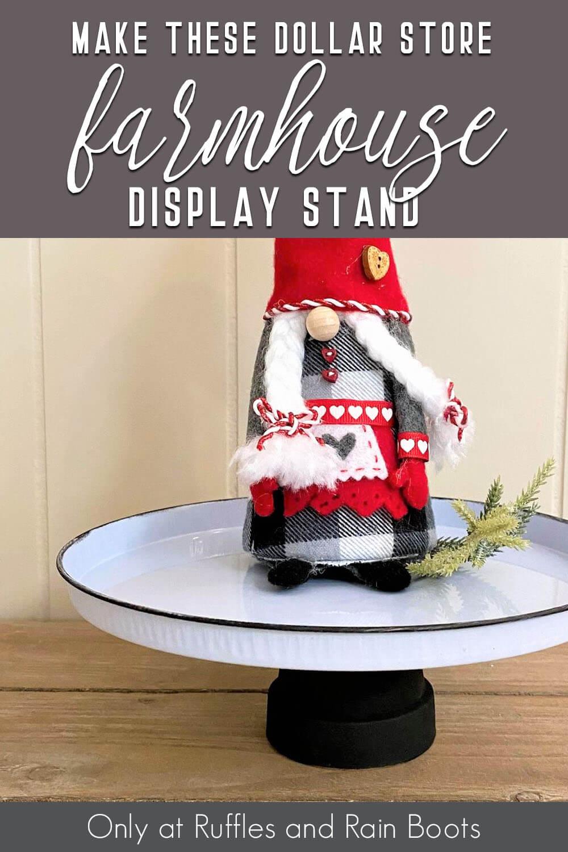 Super Quick Dollar Store Farmhouse Tray For Gnome Display