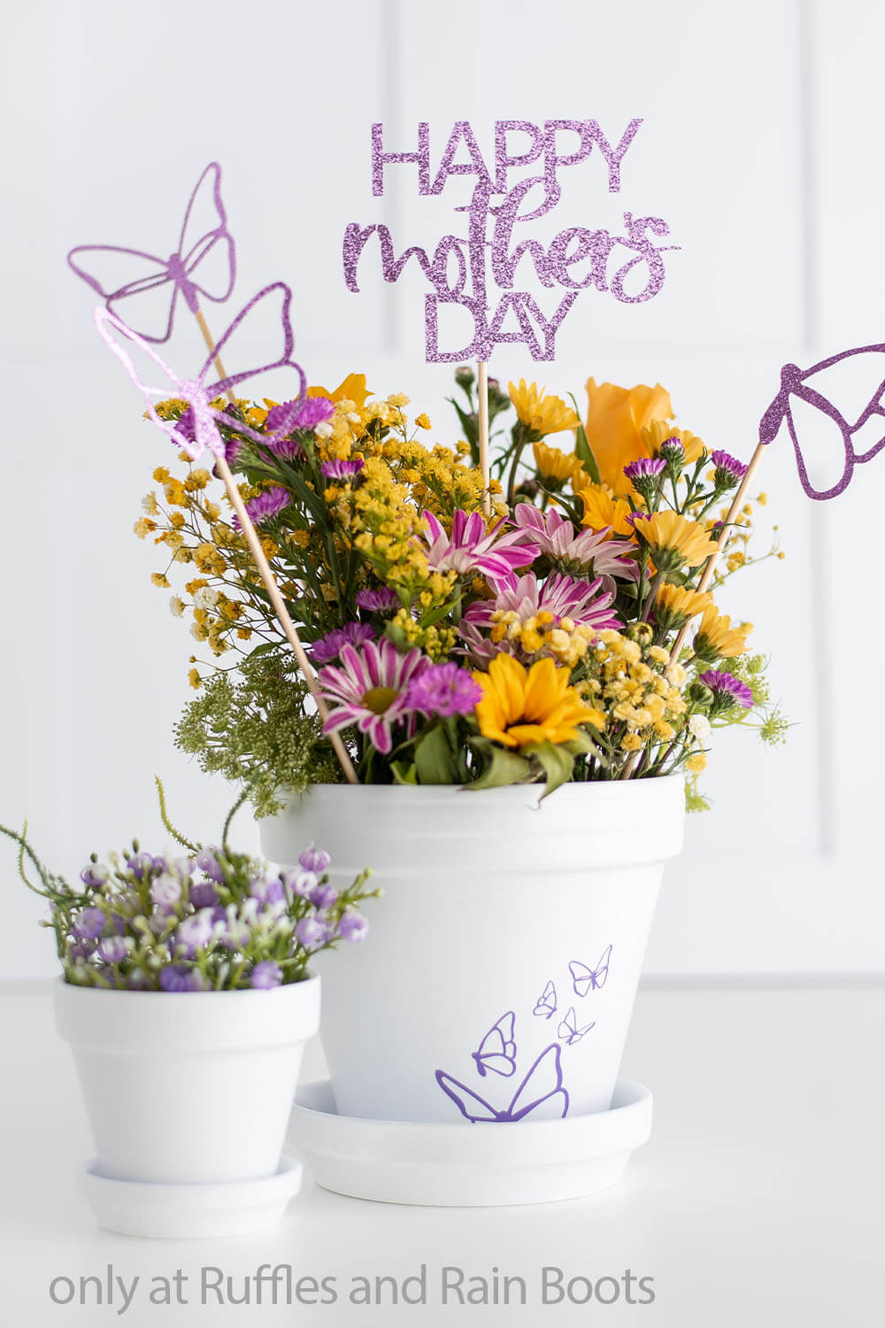 cricut bouquet pick craft for mother's day