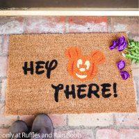 mickey halloween doormat cricut craft